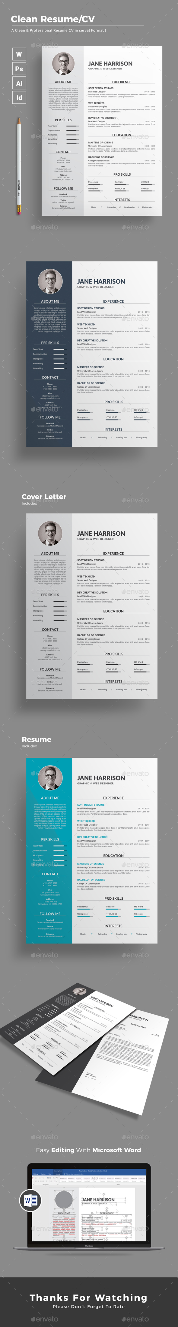 Direct Support Professional Resume Resume By Themedevisers  Graphicriver Top Resume Writing Services Reviews Pdf with Bullet Point Resume Excel Resume  Resumes Stationery Free Resume Service Excel