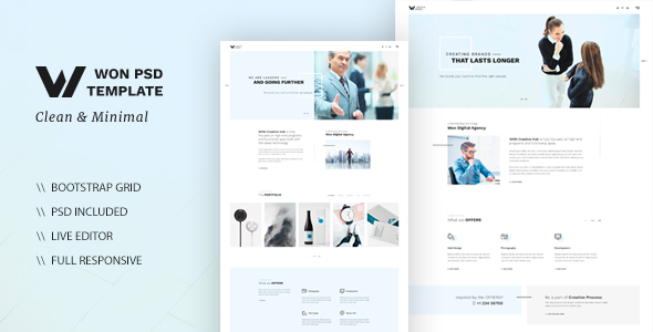 WON – Clean Multipurpose HTML