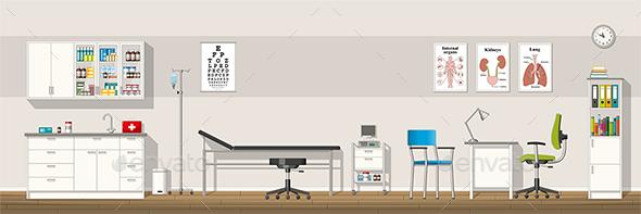 Illustration of a Doctor Office - Health/Medicine Conceptual