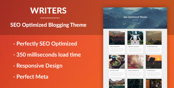 Writers – SEO Optimised Writing Theme