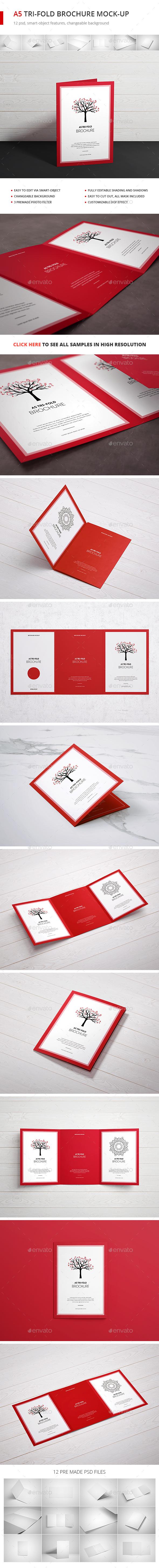 Tri-Fold Brochure A5 Mock-up - Brochures Print