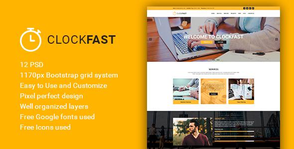 ClockFast - Multipurpose Creative Business PSD Template - Corporate PSD Templates