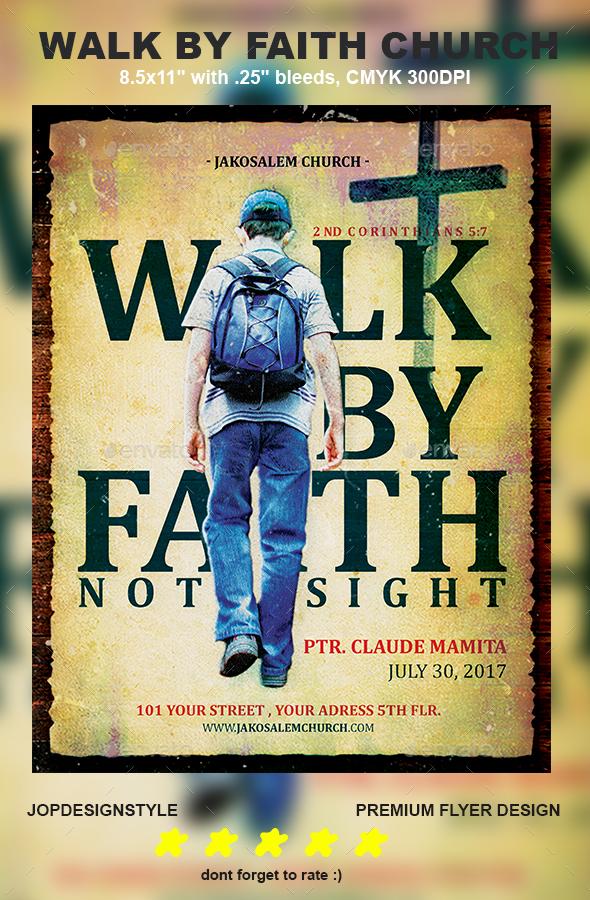 Walk by Faith Church Flyer - Church Flyers