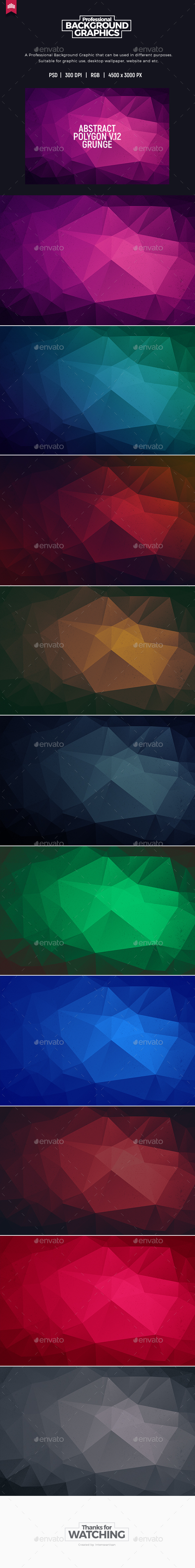 Grunge Abstract Polygon V.12 - Background - Abstract Backgrounds