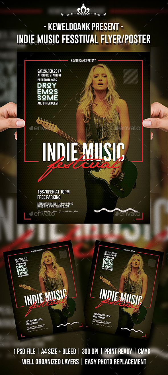 Indie Music Festival Flyer / Poster - Events Flyers