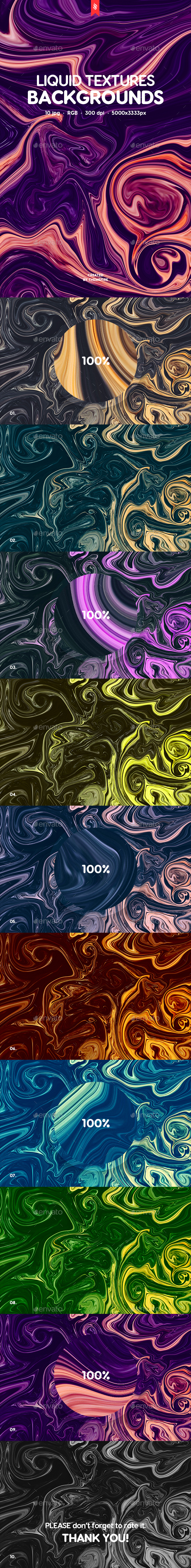 Liquid Backgrounds - Abstract Backgrounds