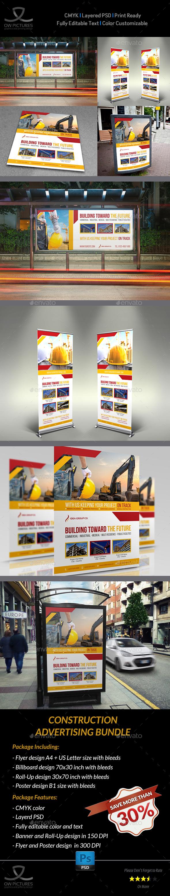 Construction Advertising Bundle Vol.5 - Signage Print Templates
