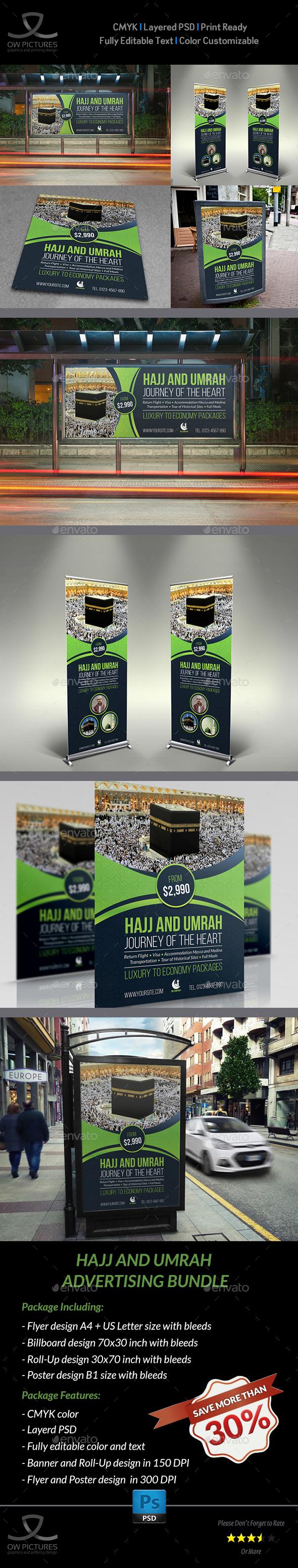 Hajj and Umrah Advertising Bundle - Signage Print Templates