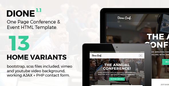 Dione - Conference & Event HTML Template - Events Entertainment