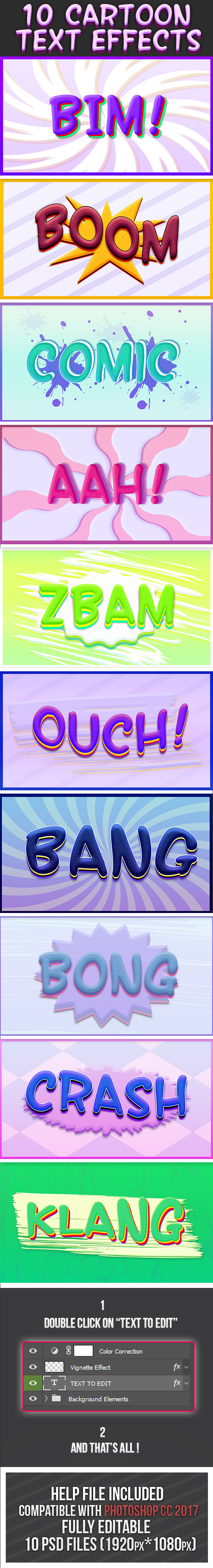 Cartoon Text Effects 6 - Text Effects Styles