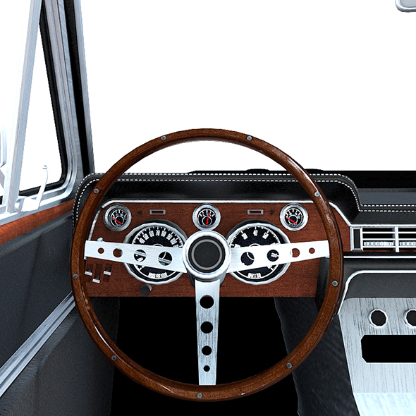 Low poly car interior - 3DOcean Item for Sale