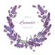 Lavender Flowers Wreath - GraphicRiver Item for Sale