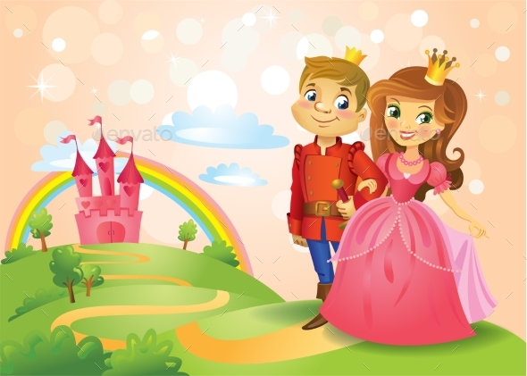 Fairy Tale Castle and Beautiful Princess - Buildings Objects
