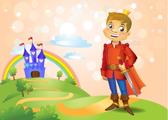 Fairy Tale Castle and Handsome Prince - Buildings Objects