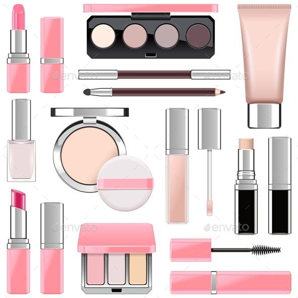 Vector Makeup Icons Set 4 - Commercial / Shopping Conceptual