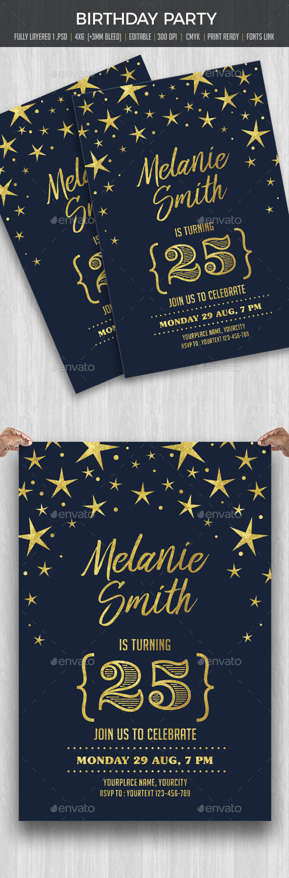 Birthday Party - Cards & Invites Print Templates