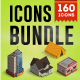 Isometric Map Icons Bundle