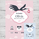 Baby Birth Details Card - GraphicRiver Item for Sale
