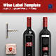 Mine Wine Label Template - GraphicRiver Item for Sale