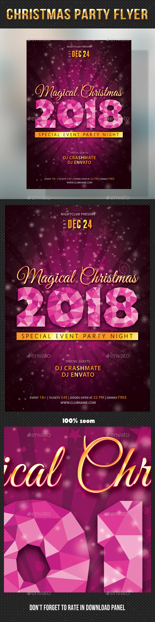 Christmas Party Flyer 02 - Holidays Events