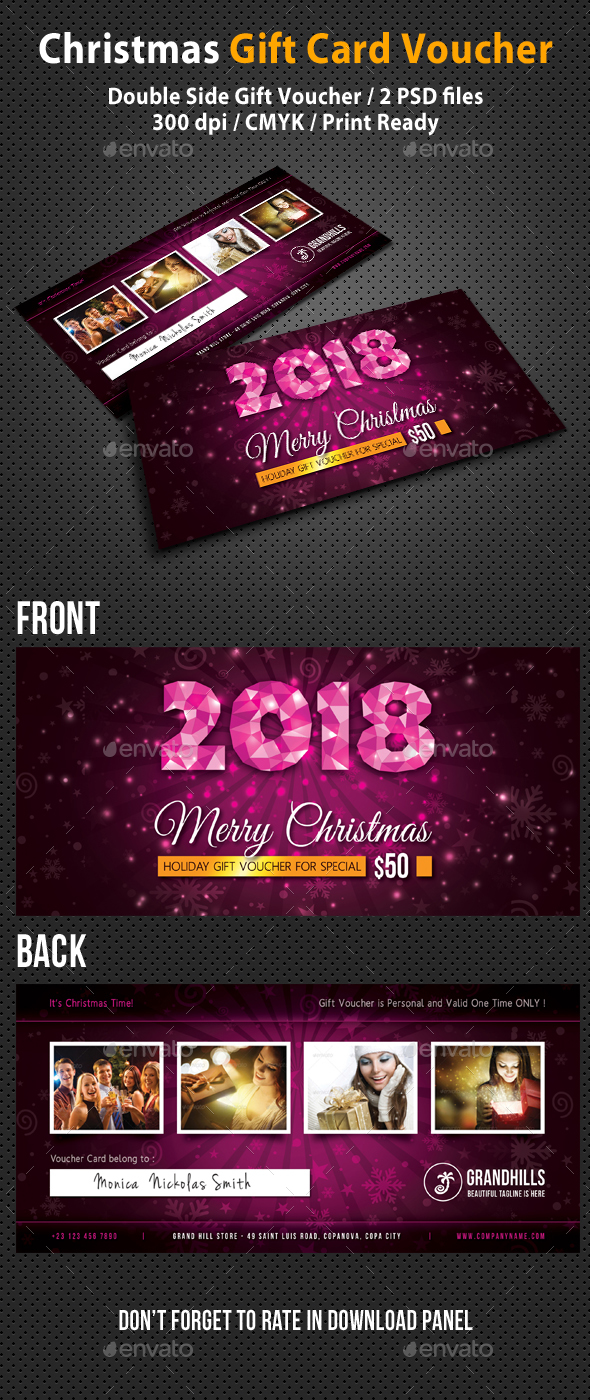 Christmas Holidays Gift Voucher V03