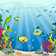 Illustration of Underwater Landscape with Fishes - GraphicRiver Item for Sale