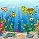 Illustration of Underwater Landscape with Turtle - GraphicRiver Item for Sale