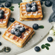 Belgian waffles with fresh berries and mint - PhotoDune Item for Sale