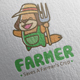 Happy Farmer Logo Design - GraphicRiver Item for Sale