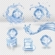 Transparent Vector Water Splash and Ice Cubes - GraphicRiver Item for Sale
