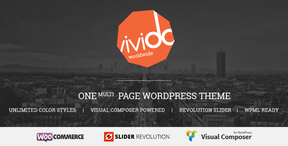 Vivido - One Page WordPress Theme - Creative WordPress