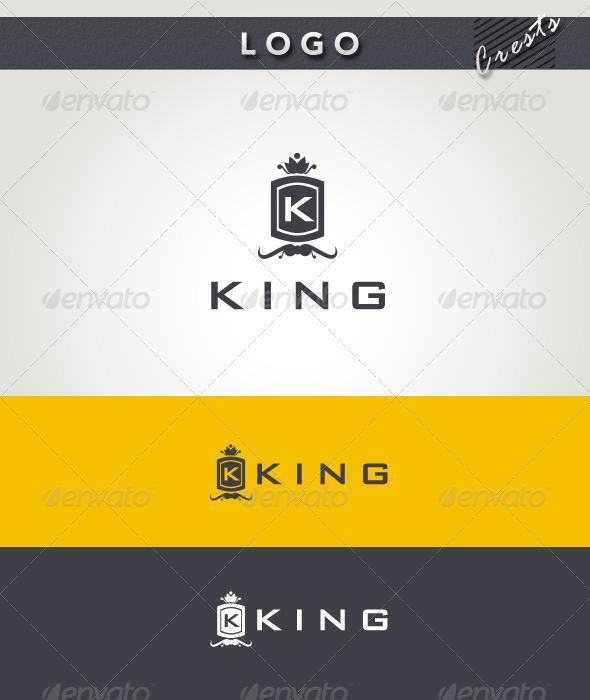 King Logo - Crests Logo Templates