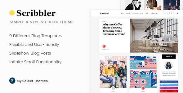 Scribbler - A Simple Theme for Blogs and Magazines - Blog / Magazine WordPress