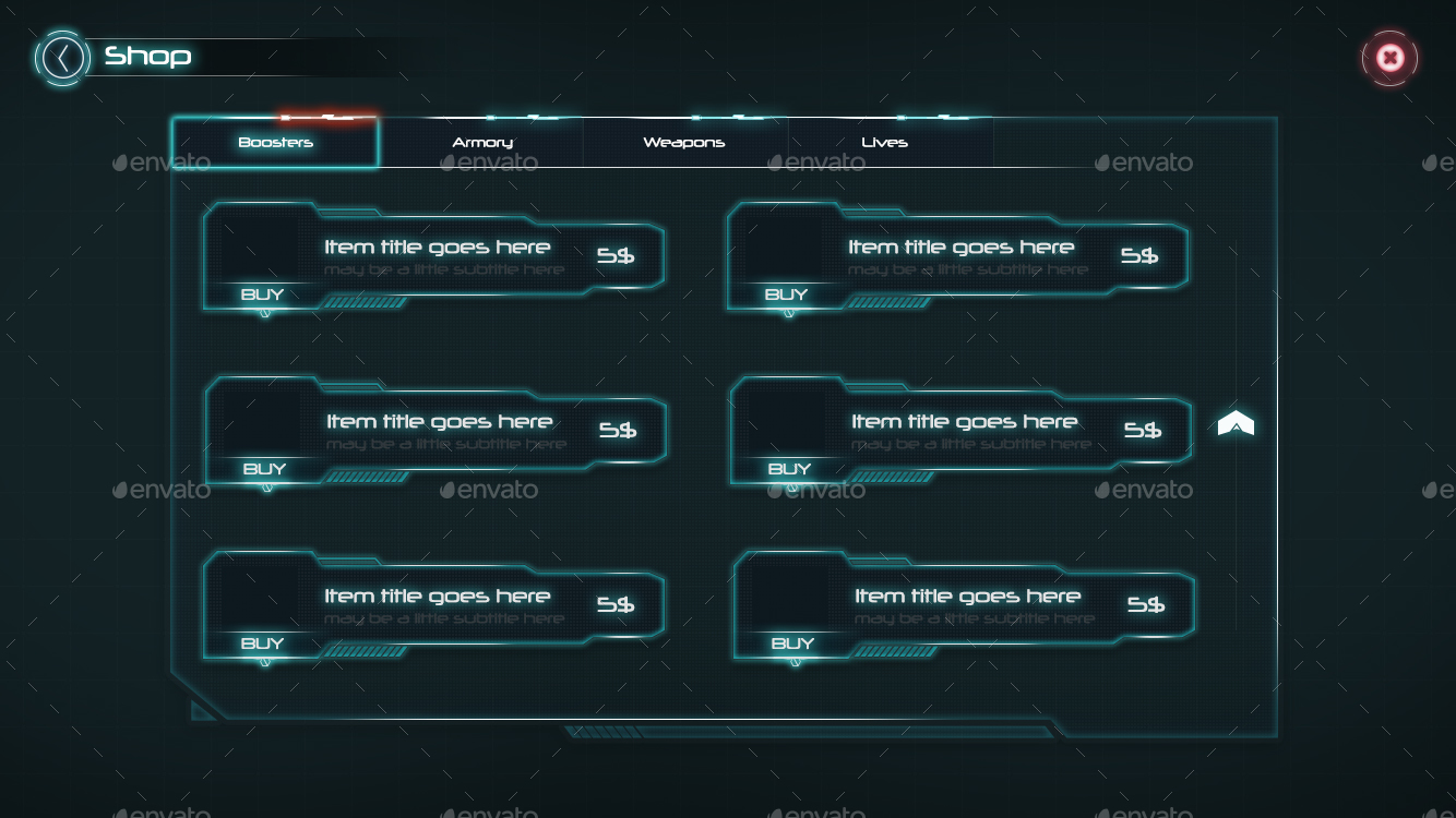 Sci Fi Game Ui By Anchor Point Heshan Graphicriver