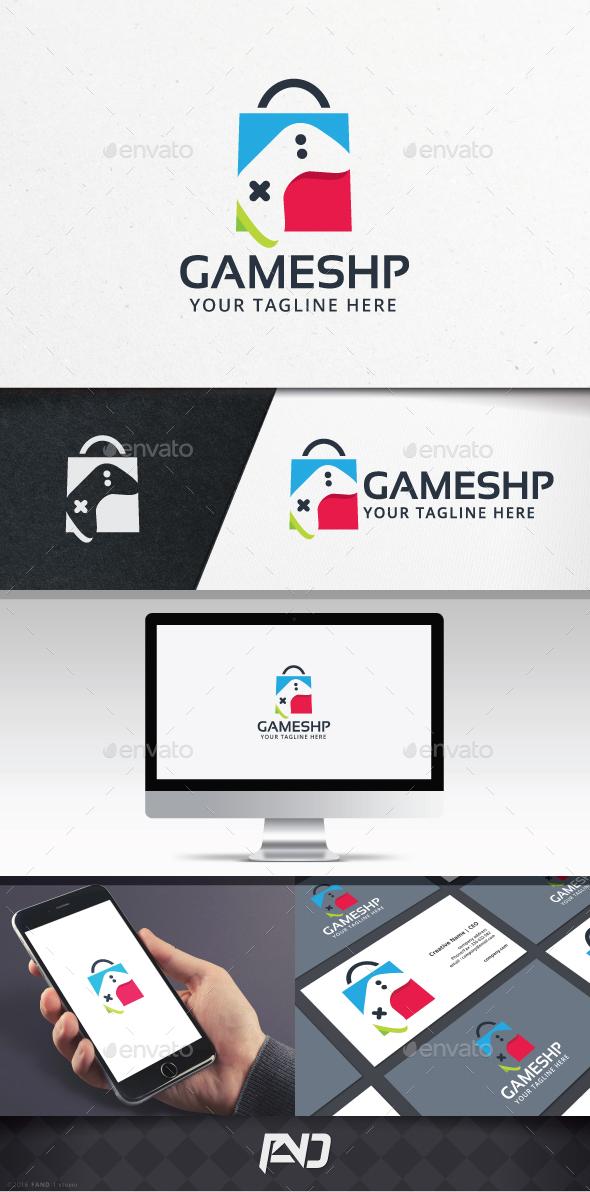 Game Shopping Logo - Vector Abstract