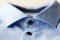 close up of blue shirt collar
