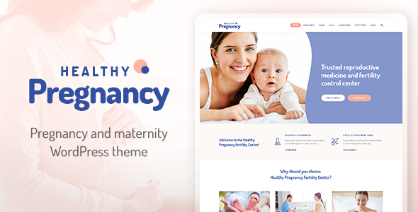 Healthy Pregnancy - Health & Medical WordPress Theme - Health & Beauty Retail