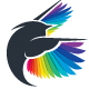 Colorful Feather Bird Logo - GraphicRiver Item for Sale