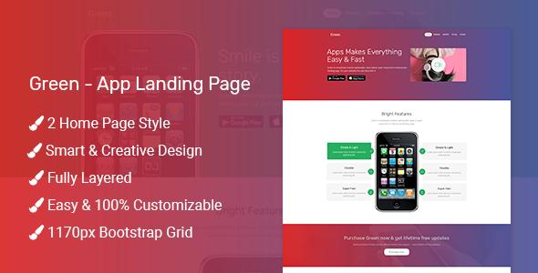 Green - App Landing Page