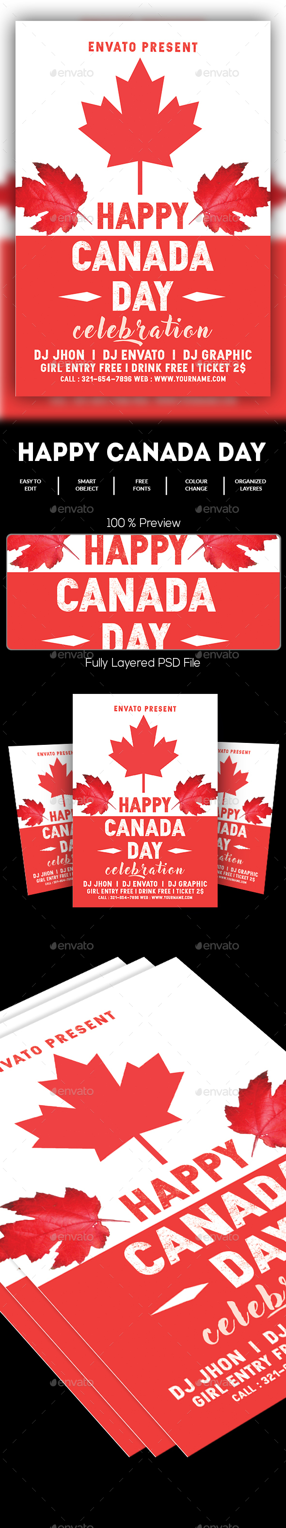 Canada Day Flyer - Holidays Events