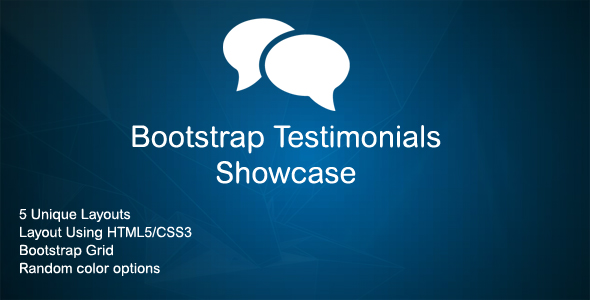 Bootstrap Testimonials Showcase - CodeCanyon Item for Sale