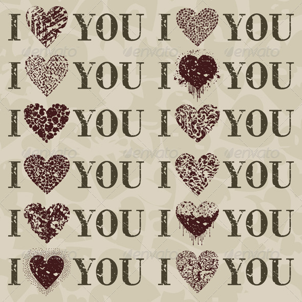 I love you - Decorative Symbols Decorative
