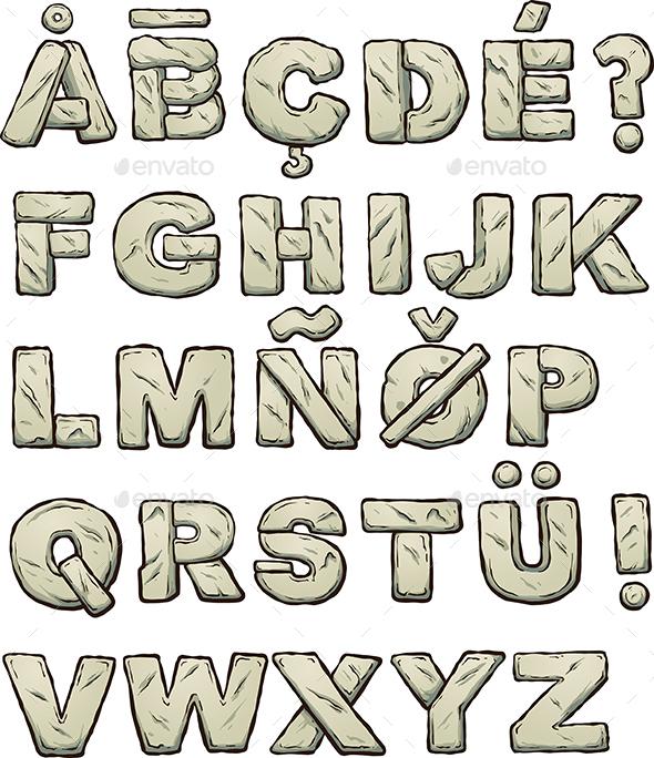 Stone Letters - Decorative Symbols Decorative