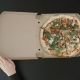 The  Above View of the Hands of the Man Are Opening the Box with the Pizza - VideoHive Item for Sale