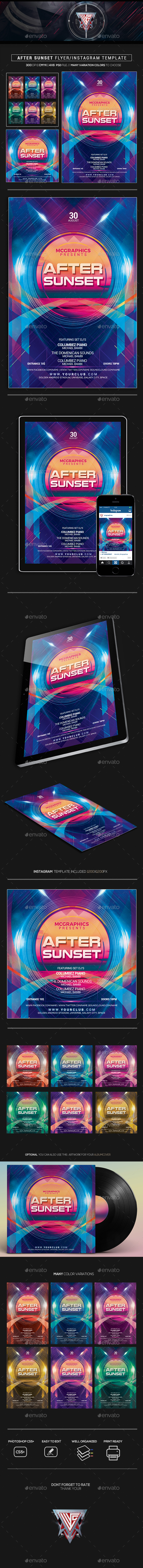 After Sunset Flyer/Instagram Template - Events Flyers