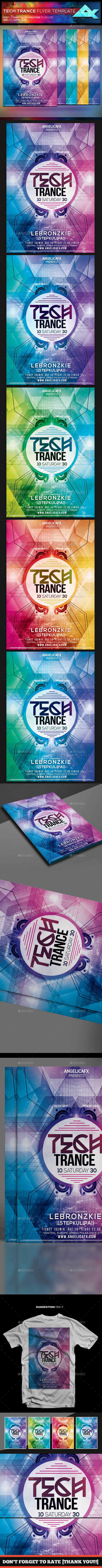 Tech Trance Flyer Template - Flyers Print Templates