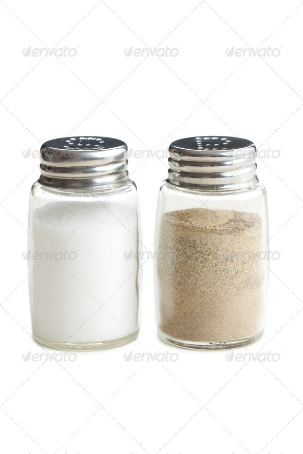 salt and pepper shaker - Stock Photo - Images