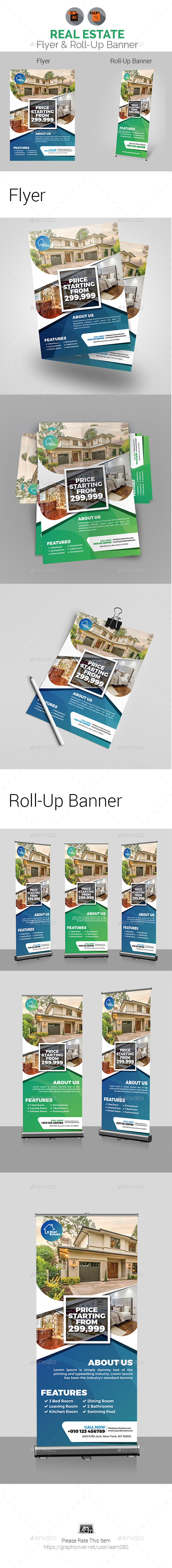 Real Estate Flyer & Roll-Up Banner Bundle