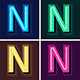 Neon Light Alphabet Font - GraphicRiver Item for Sale