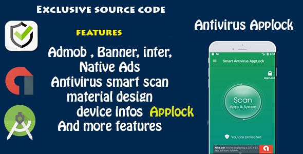 Antivirus + Applock - CodeCanyon Item for Sale